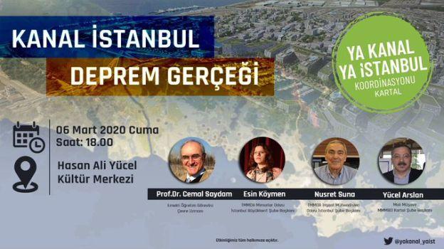 """Kartal'da """"Kanal İstanbul ve Deprem Gerçeği"""" Paneli"""