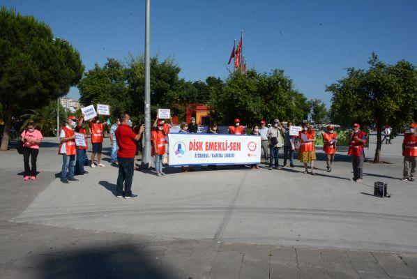 DİSK/Kartal Emekli-Sen Emekliler Haftası'nda taleplerin haykırdı
