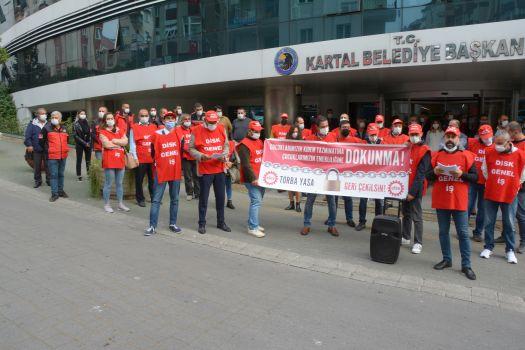 Kartal Belediye İşçileri Torba Yasa Teklifine Hayır Dedi