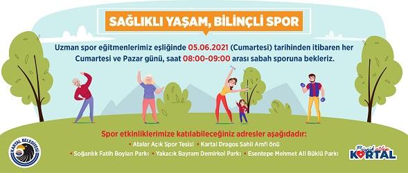 Kartal'da Sağlıklı Yaşam ve Bilinçli Spor Etkinlikleri başlıyor