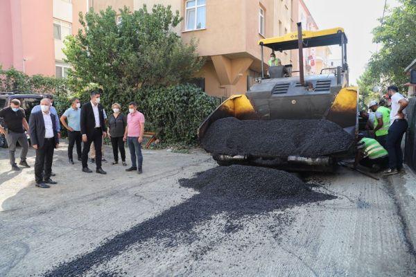 Mahalle Bazlı Kısmi Asfalt Çalışmalarında Sıra Cumhuriyet Mahallesi'nde