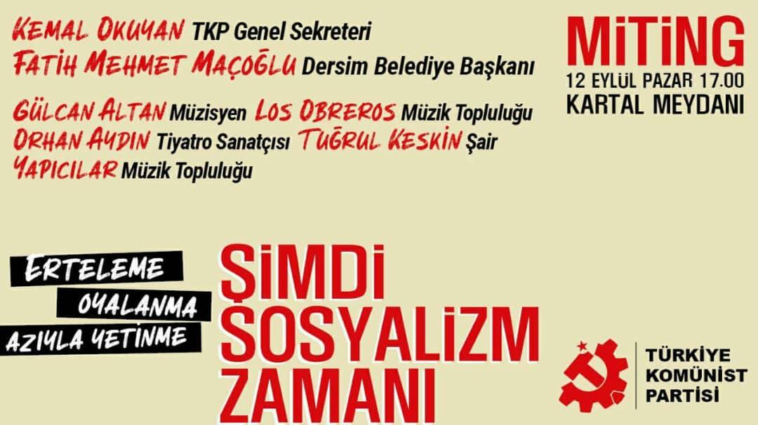 Türkiye Komünist Partisi Kartal Mitingine Hazırlanıyor
